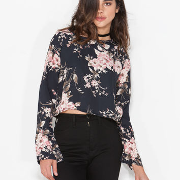 Into The Bloom Floral Blouse GoJane.com