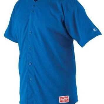 rawlings pindot mesh adult baseball jersey - royal Case of 25
