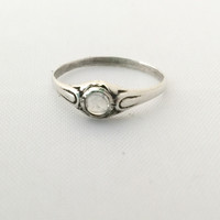 Cabochon Baby Ring | Moonstone