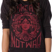 Obey Girls Make Art Not War Red Tri Blend Dolman Top at Zumiez : PDP