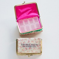Pill  Box:  Stop  Smile  Breathe  Medium  Pill  Pouch    From  Natural  Life