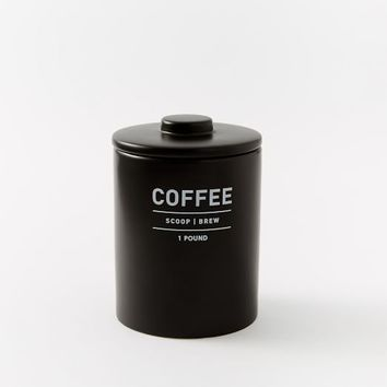 Utility Coffee Canister, Black