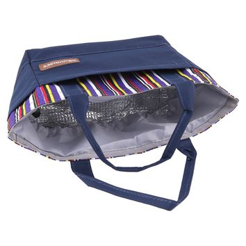 Picnic Oxford Fabric Thermal Food Lunch Warmer Cooler Carry Tote Bag
