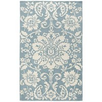 Marcela Floral Rugs - Smoke Blue