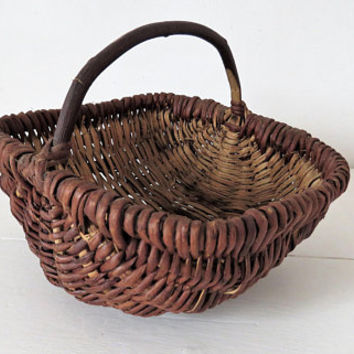 Vintage French, Small, Gathering Basket