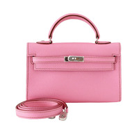 HERMES Kelly bag mini Miniature coveted 5P Pink NWT / box rare