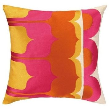 Delano Hot Pink Modern Throw Pillow