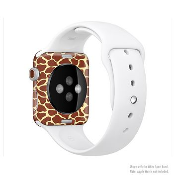 The Simple Vector Giraffe Print Full-Body Skin Set for the Apple Watch