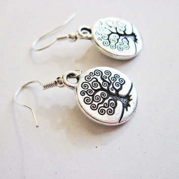 Tree of life earrings silver tree branches by RobertaValle on Etsy