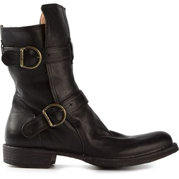 Fiorentini +  Baker double buckle boots