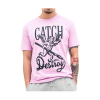 Catch & Destroy Cherub Tee In Pink