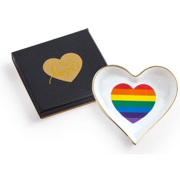 Rainbow Heart Trinket Tray