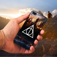 Harry Potter Deathly Hallows - cover case for Samsung Galaxy s3 s4 s5 Note 3 -- iPhone 4 4S 5 5C 5 5S 6 Plus