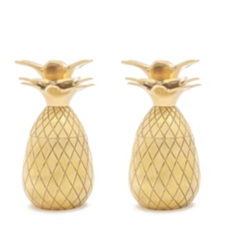 Pineapple Shot Glass Gold