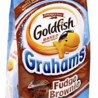 Pepperidge Farm Whole Grain Goldfish Fudge Graham Brownie Flavor 6.6 Oz. (3 Pack)