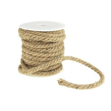Burlap Jute Twine Rope, 6mm, 12 Yards, Natural