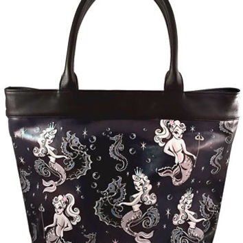 Pin-Up Of The Sea Mermaid Tote Bag