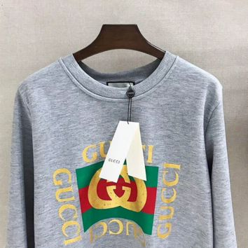 bd9737994df GUCCI Fashion Casual Long Sleeve Sweater Pullover Sweatshirt