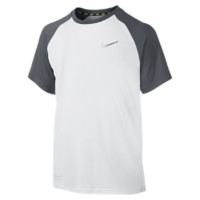 Nike Miler GFX Short-Sleeve Crew Boys' Running Shirt Size Small (White)