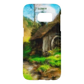 Retro Old Mill In Mountain Valley On Small River Samsung Galaxy S7 Case