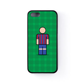 Barcelona Black Silicon Case Rubber Case for Apple iPhone 5 / 5s by Blunt Football European