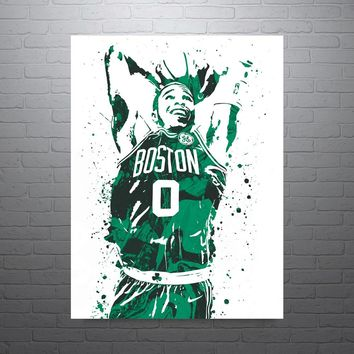Jayson Tatum Boston Celtics Poster