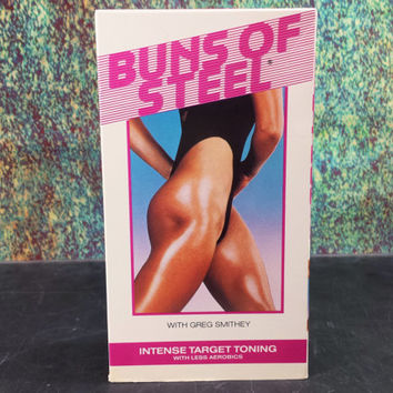 80s Buns Of Steel VHS Intense Target Toning Workout Exercise Tape 1987 Vintage Fitness Aerobics Buttocks Work Out Videotapes Greg Smithey