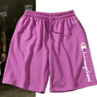 Champion Fashion Sports Running print Shorts Purple