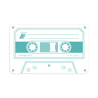 Cassette Tape - Flat Notes (Teal)
