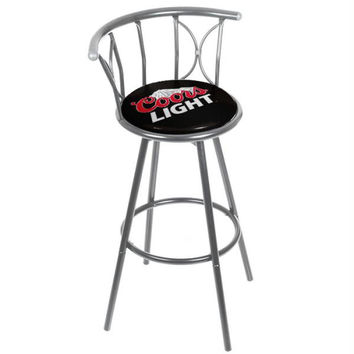 Coors Light Weatherproof Padded Outdoor Bar Stool - Silver
