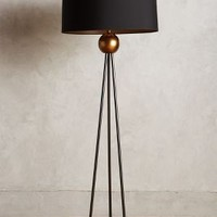 Triangulate Floor Lamp Ensemble by Anthropologie in Gold Size: One Size Lighting