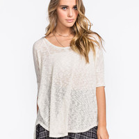 Full Tilt Be Free Womens Dolman Top Oatmeal  In Sizes