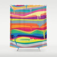 The Melting Shower Curtain by Joe Van Wetering