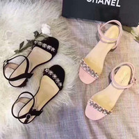 Chanel crystal women High Heel Sandals shoes H-ALXY