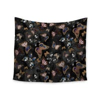 "Nikki Strange ""Galactic Butterfly"" Black Brown Wall Tapestry"