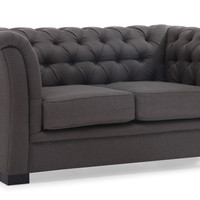 Nob Hill Loveseat Charcoal Gray