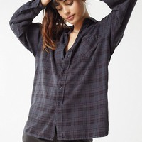 Urban Renewal Remade Overdyed Button-Down Flannel Shirt | Urban Outfitters