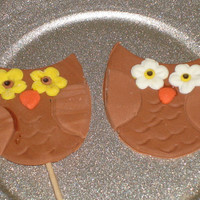Gumpaste Owl Cupcake Toppers for Baby Showers, Adoption, Birthdays