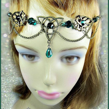 Triquetra Celtic Circlet, BRONZE Headdress, Handfasting Headdress, Ren Faire Circlet, Choose Color, Treasury Lists
