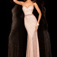 Scala 48389 Sexy Fitted Beaded Prom Dress