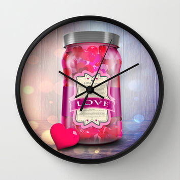 """Soul Purpose"" Collection Love in Color / Mason Jar Art Wall Clock by soaring anchor designs ⚓ 