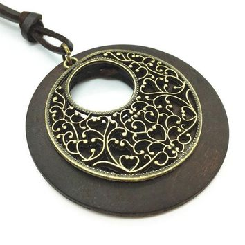 Fashion Handmade Wood Pendants Necklaces for Women