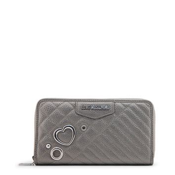 Love Moschino Grey Synthetic Leather Purse
