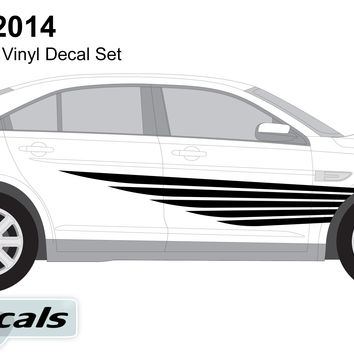Ford Taurus 2014 Winged Lines Graphics Vinyl Decal Set