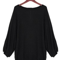 *Free Shipping* Black Women Cashmere Sweater One Size YL953699  from efoxcity