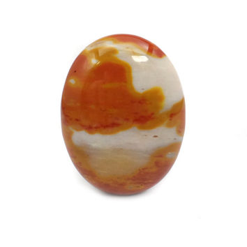 Mookaite Jasper Cabochon, Large Oval Yellow and Brown Stone Cab, Australian Mook Jasper 40 x 30 CB276