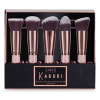 Luxie Rose Gold 5-Piece Kabuki Brush Set | Nordstrom