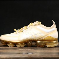Nike Wmns Air VaporMax 2019 Gold Running Shoes