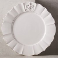 Fleur De Lys Dinner Plate by Anthropologie