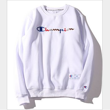 98ee5d4f6c7 Champion letter embroidery sweater tide men and women Harajuku B